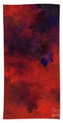 Hand Towel featuring the digital art Andee Design Abstract 73 2017 by Andee Design