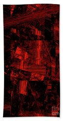 Hand Towel featuring the digital art Andee Design Abstract 80 2017 by Andee Design