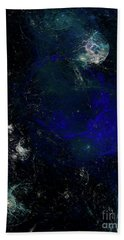 Hand Towel featuring the digital art Andee Design Abstract 81 2017 by Andee Design
