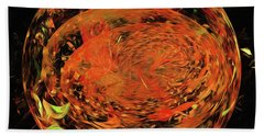 Hand Towel featuring the digital art Andee Design Abstract 82 2017 by Andee Design