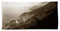 Anderson Creek Labor Camp Big Sur April 3 1931 Bath Towel by California Views Mr Pat Hathaway Archives