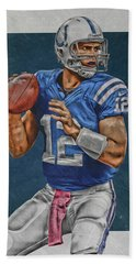 Andrew Luck Indianapolis Colts Art Hand Towel