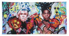 Andy Warhol And Jean-michel Basquiat Bath Towel