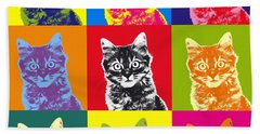 Andy Warhol Cat Hand Towel