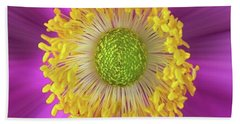 Anemone Hupehensis 'hadspen Bath Towel by John Edwards
