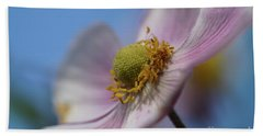 Anemone Tomentosa Close Up Hand Towel