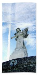 Angel And Crosses Hand Towel