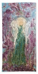 Angel Draped In Hydrangeas Bath Towel