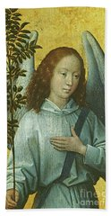 Angel Holding An Olive Branch Hand Towel