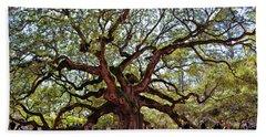 Angel Oak Tree 009 Bath Towel by George Bostian
