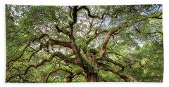 Angel Oak Tree Of Life Hand Towel