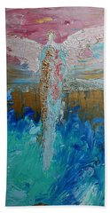 Angel Of Divine Love Hand Towel
