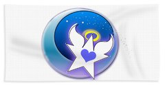 Angel Star Icon Hand Towel by Shelley Overton