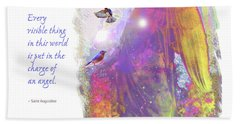 Hand Towel featuring the photograph Angel Vision by Marie Hicks