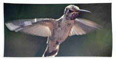 Angel Wings  Hummer In Flight Bath Towel