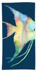Angelfish I - Solid Background Hand Towel