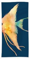 Angelfish II - Solid Background Hand Towel