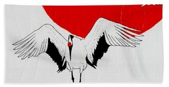 Angelic Crane Bath Towel by Stephanie Grant