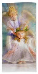 Hand Towel featuring the digital art Angelic by Tom Druin