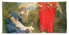 Angels Entertaining The Holy Child Hand Towel