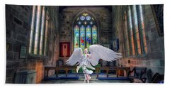 Angels Love And Guidance Bath Towel