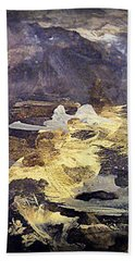 Bath Towel featuring the painting Angels Over Palm Springs by Nancy Kane Chapman