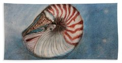 Bath Towel featuring the painting Angel's Seashell  by Kim Nelson