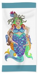 Angels Swim Among Us Bath Towel by Rosemary Aubut