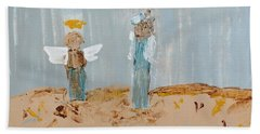 Angels Taking Care Of E Bath Towel