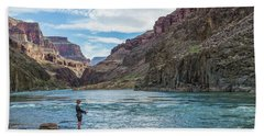 Angling On The Colorado Hand Towel by Alan Toepfer