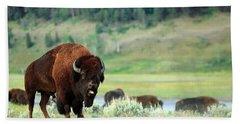 Angry Buffalo Hand Towel