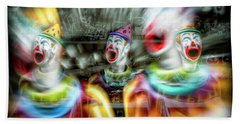 Angry Clowns Bath Towel by Wayne Sherriff