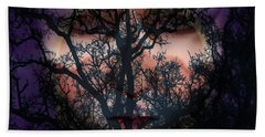 Bath Towel featuring the photograph Angry Monster Child #5 by Barbara Tristan