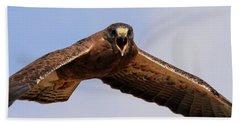 Angry Swainson's Hawk Hand Towel