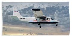 Anguilla Air Services Britten-norman Bn-2a-26 Islander 114 Hand Towel