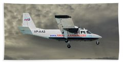 Anguilla Air Services Britten-norman Bn-2a-26 Islander 116 Hand Towel