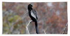 Bath Towel featuring the photograph Anhinga by Gary Wightman