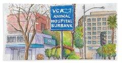 Anibal Hospital Burbank In Olive St., Burbank, California Hand Towel