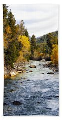Hand Towel featuring the photograph Animas River by Kurt Van Wagner