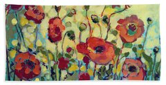 Anitas Poppies Bath Towel