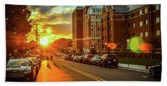 Ann Arbor Sunset Hand Towel by Eric Sutherland