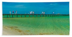 Anna Maria Island Historic City Pier Panorama Bath Towel
