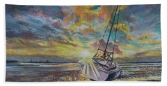 Annagassan Sunrise Hand Towel by Marty Garland