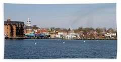 Annapolis City Skyline Bath Towel