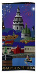 Annapolis Holiday With Title Bath Towel