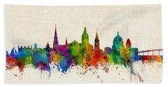 Bath Towel featuring the digital art Annapolis Maryland Skyline by Michael Tompsett
