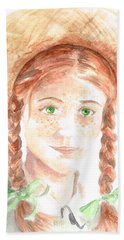 Bath Towel featuring the painting Anne Of Green Gables by Andrew Gillette