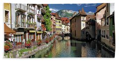Annecy River View Hand Towel