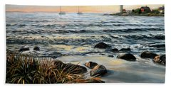 Annisquam Beach And Lighthouse Bath Towel