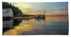 Bath Towel featuring the photograph Anniversary Sunset by Ronda Broatch